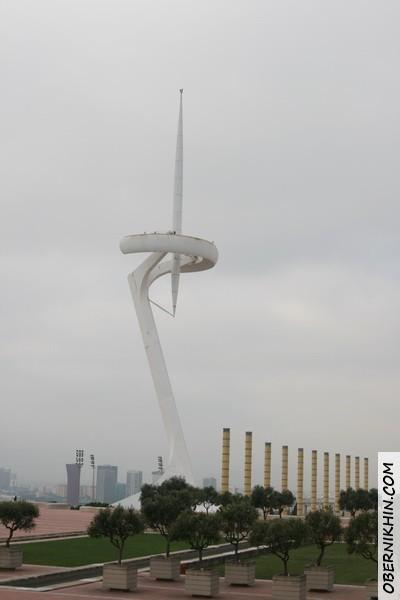телебашня, символ олимпийских игр в Барселоне
