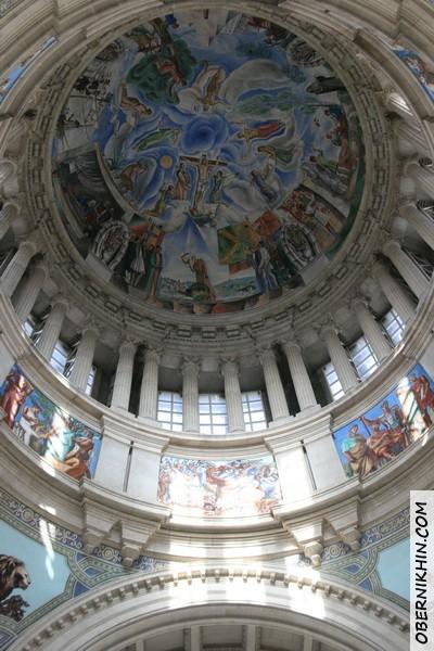 расписной купол в музее